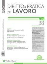 Diritto e Pratica del Lavoro – 2 Ottobre 2021