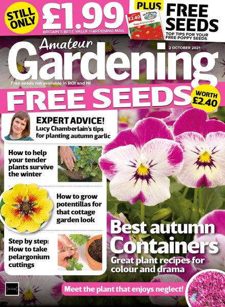 Amateur Gardening – 02 October 2021