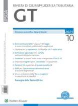 GT Rivista di Giurisprudenza Tributaria – Ottobre 2021