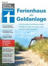Stiftung Warentest Finanztest – October 2021