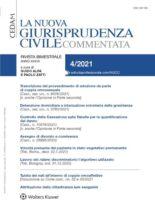 La Nuova Giurisprudenza Civile Commentata – N4 2021